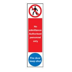 Door Push Plates - No admittance and Fire Door