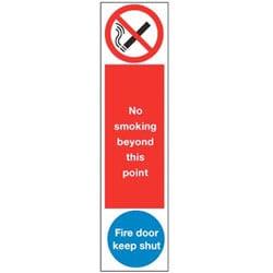 Door Push Plates - No Smoking and Fire Door Keep Shut