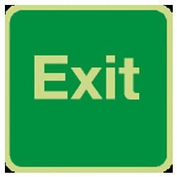 Exit Sign (Photoluminescent)