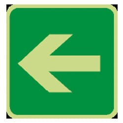 Left Arrow Sign (Photoluminescent)