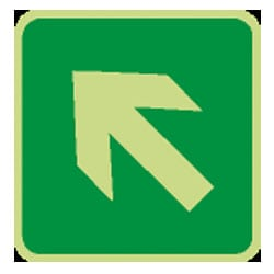 Arrow Sign Diagonal Up/Left Sign (Photoluminescent)