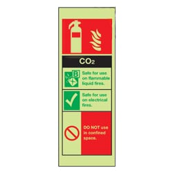 CO2 Fire Extinguisher Sign (Photoluminescent)