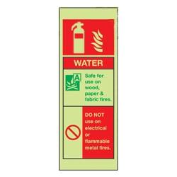 Water Fire Extinguisher (Photoluminescent)