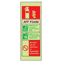 AFF Foam Fire Extinguisher Sign (Photoluminescent)