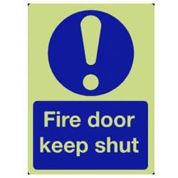 Fire Door Keep Shut Sign - Photoluminescent