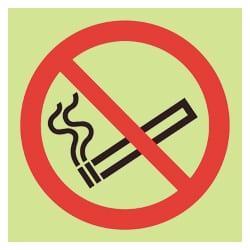 No Smoking Symbol Sign (Photoluminescent)