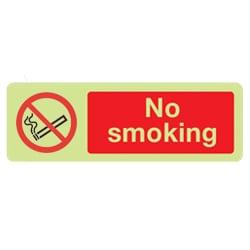 No Smoking Sign (Photoluminescent)