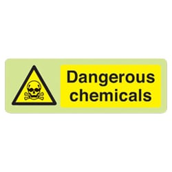 Dangerous Chemicals Sign - Photoluminescent