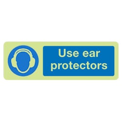 Use Ear Protectors Sign (Photoluminescent)