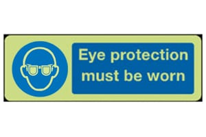 Eye Protection must be worn sign (Photoluminescent)