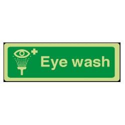 Eye Wash Sign - Photoluminescent