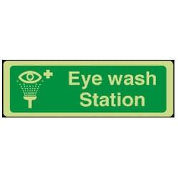 Eye Wash Station Sign (Photoluminescent)
