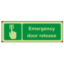 Emergency Door Release Sign - Photoluminescent