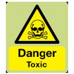 Danger Toxic Sign (Photoluminescent)