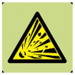 Explosive Symbol Sign (Photoluminescent)