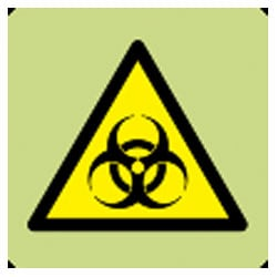 Danger Biohazard Symbol Sign (Photoluminescent)