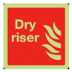 Dry Riser Sign (Photoluminescent)