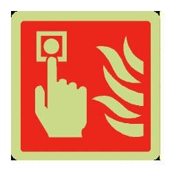 Fire Alarm Symbol Sign (Photoluminescent)