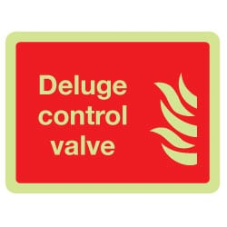Deluge control valve Sign (Photoluminescent)