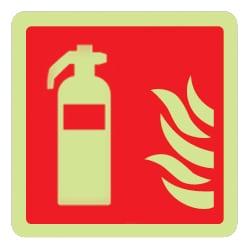 Fire Extinguisher Symbol Sign (Photoluminescent)