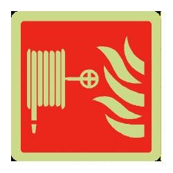 Fire Hose Symbol Sign (Photoluminescent)