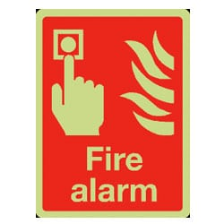 Fire Alarm Sign (Photoluminescent)