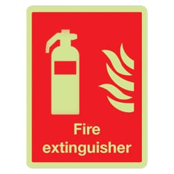 Fire Extinguisher Sign (Photoluminescent)