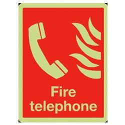 Fire Telephone Sign (Photoluminescent)