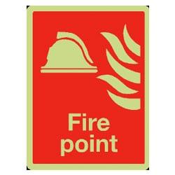 Fire Equipment Signs - Fire Point (Photoluminescent)