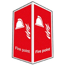 Fire Point Sign - Projecting (Photoluminescent)