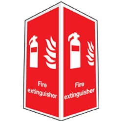Fire Extinguisher Sign - Projecting (Photoluminescent)