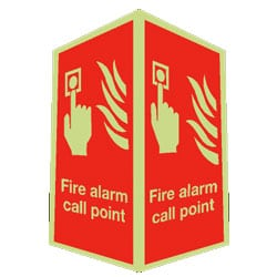 Fire Alarm Call Point Sign - Projecting (Photoluminescent)