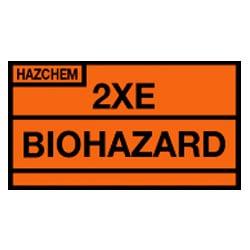 Hazchem 2XE Biohazard Sign (Type F)
