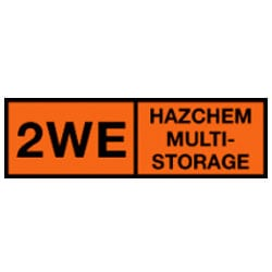 2WE Hazchem Multi-Storage Sign (Type B)