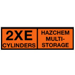 2XE Cylinders Hazchem Multi-Storage Sign (Type B1).