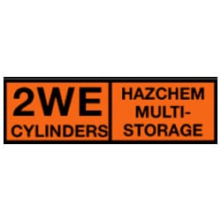 2WE Cylinders Hazchem Multi-Storage Sign (Type B1)