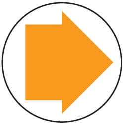 Waymarking Arrows - Orange and White Byways open to traffic