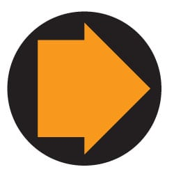 Waymarking Arrows - Orange and Black Byways open to traffic