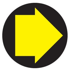 Waymarking Arrows - Yellow and Black Footpath