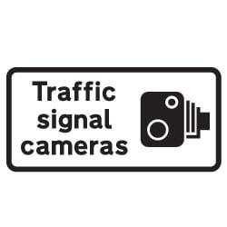 Traffic Speed Signal Cameras Sign