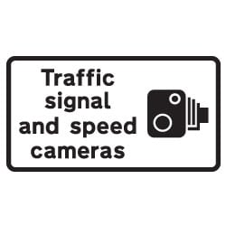Traffic signal and speed camera Sign
