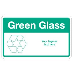 Green Glass Bin Recycling Sign