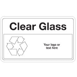 Clear Glass Bin Recycling Sign