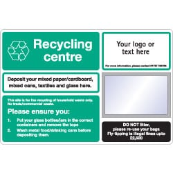 Council Recycling Centres Recycling Sign