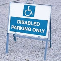 Disabled Parking Only Sign With Frame