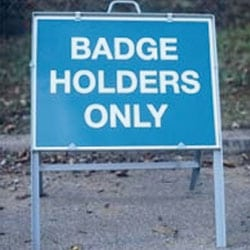 Badge Holders Only - Free Standing Sign
