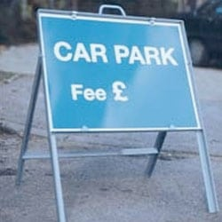 Car Park Fee GBP - Free Standing Sign
