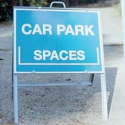 Car Park Spaces Free Standing Sign