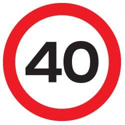 40 mph Traffic Sign