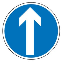 Ahead Only Traffic Sign